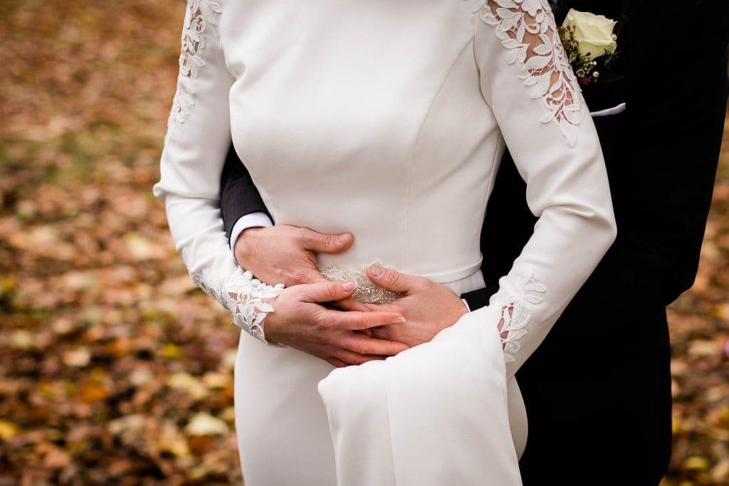 bride and groom hands fallons restaurant kilcullen Kildare