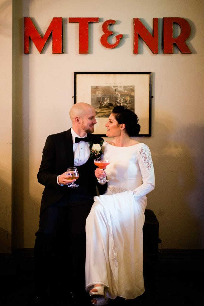 bride and groom fallons restaurant kilcullen Kildare