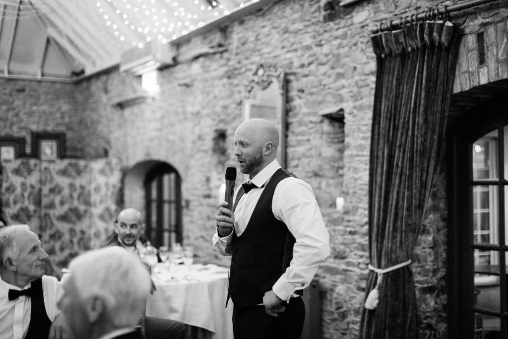 best mans speech fallons restaurant kilcullen Kildare