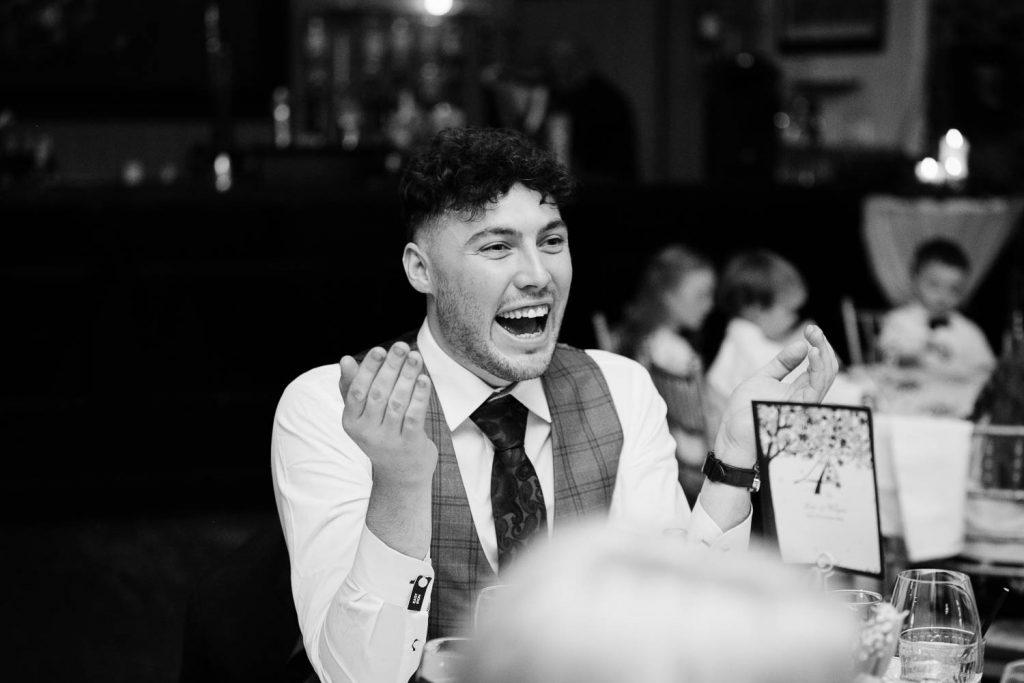 guest laughing wedding speeches fallons restaurant kilcullen Kildare